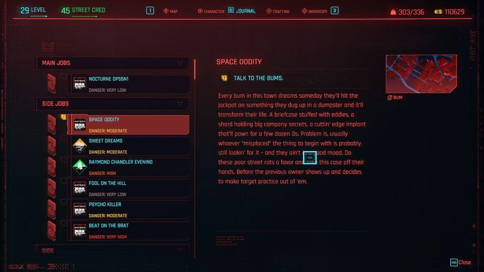 cyberpunk 2077 - space oddity