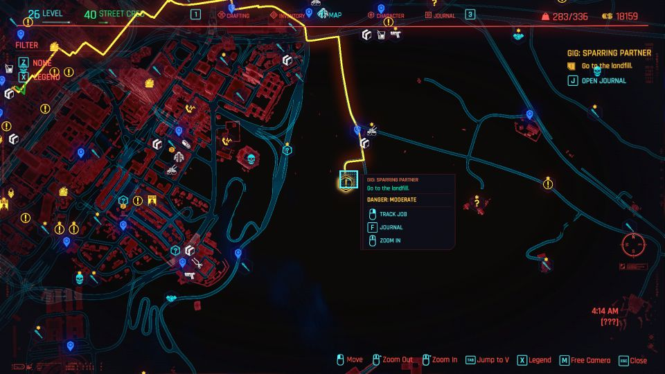 cyberpunk 2077 - sparring partner guide