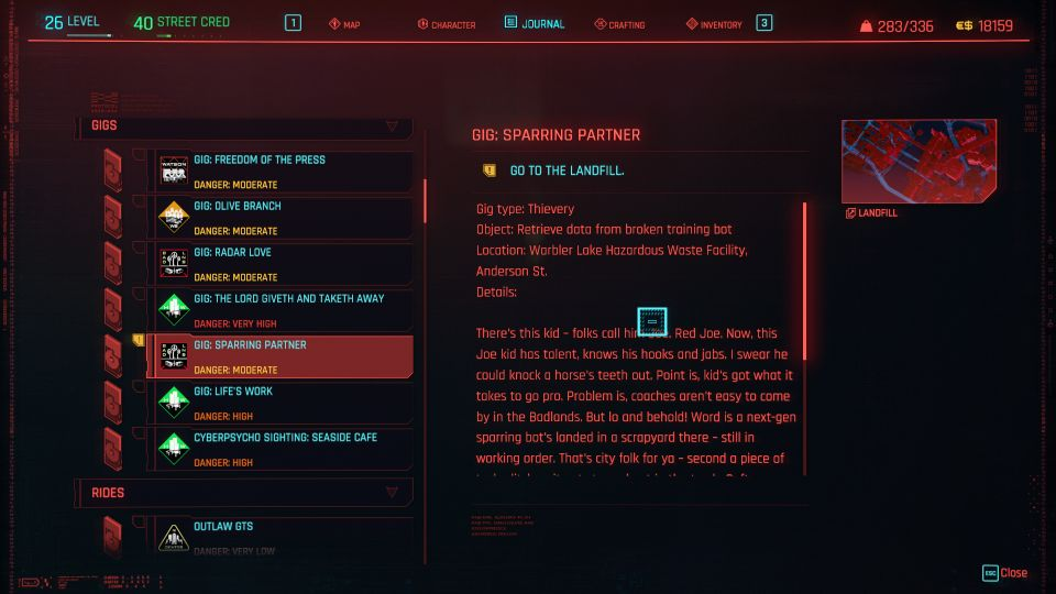 cyberpunk 2077 - sparring partner