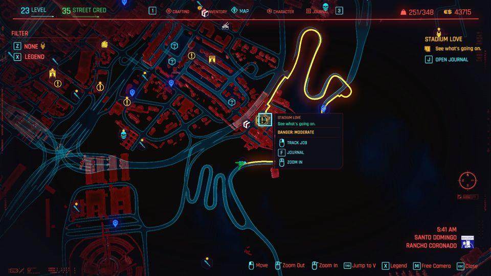 cyberpunk 2077 - stadium love guide