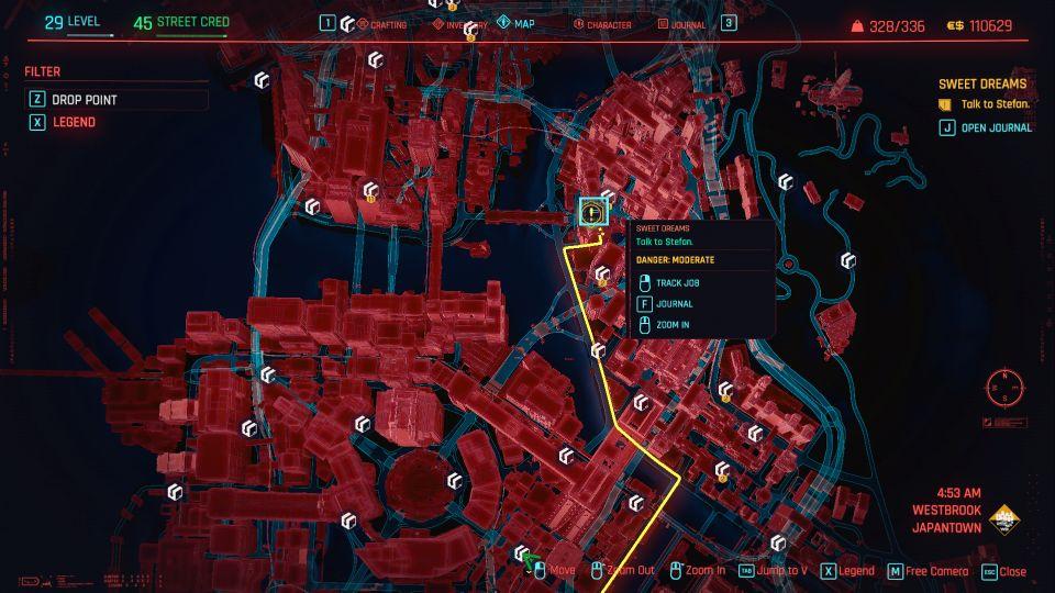 cyberpunk 2077 - sweet dreams mission