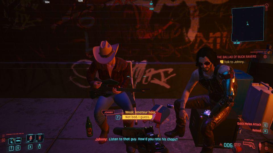cyberpunk 2077 - the ballad of buck ravers mission
