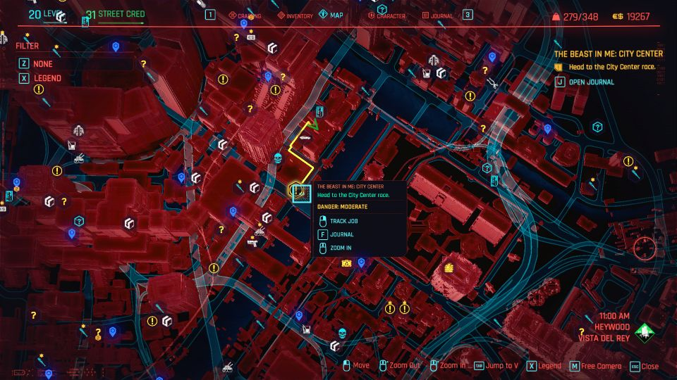 cyberpunk 2077 - the beast in me city center guide