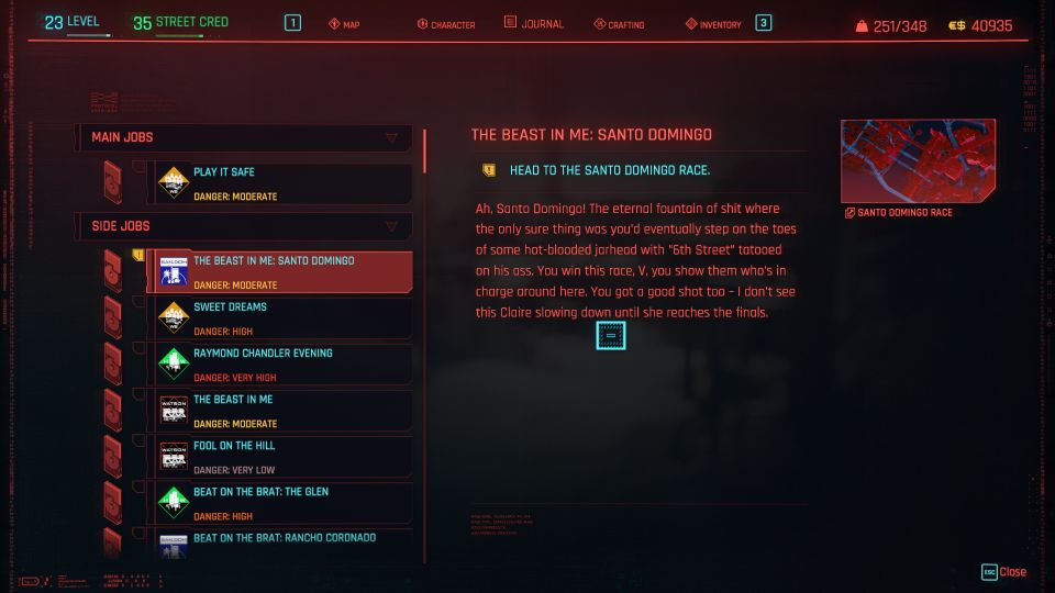 cyberpunk 2077 - the beast in me santo domingo