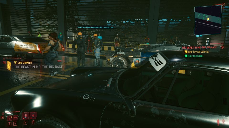 cyberpunk 2077 - the beast in me the big race wiki