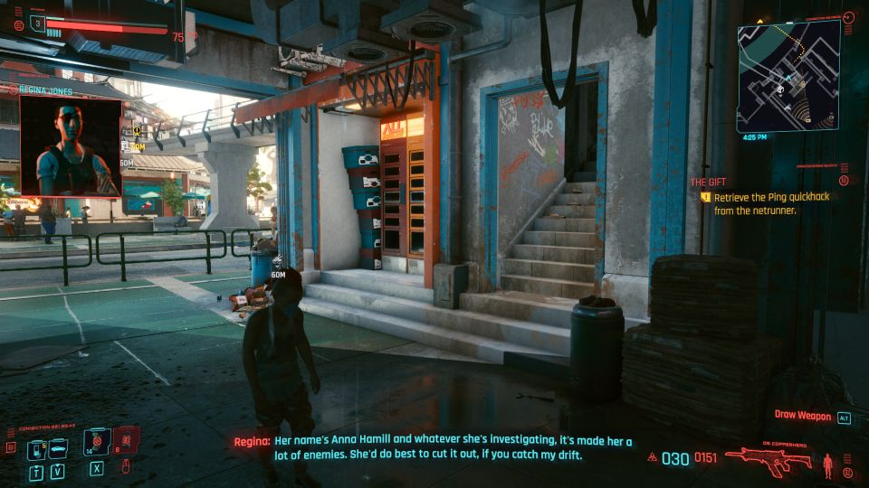 cyberpunk 2077 the gift mission