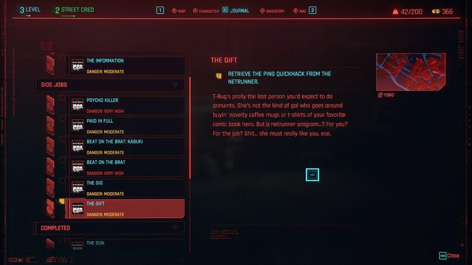 cyberpunk 2077 the gift