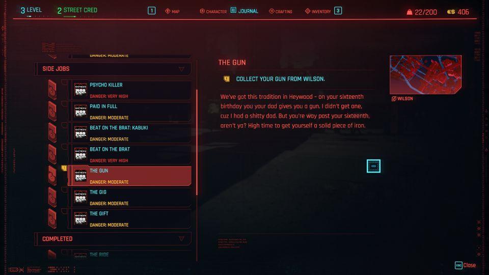cyberpunk 2077 the gun