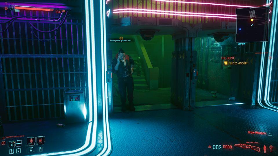 cyberpunk 2077 - the heist quest