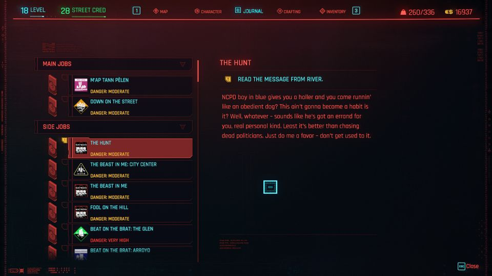 cyberpunk 2077 - the hunt