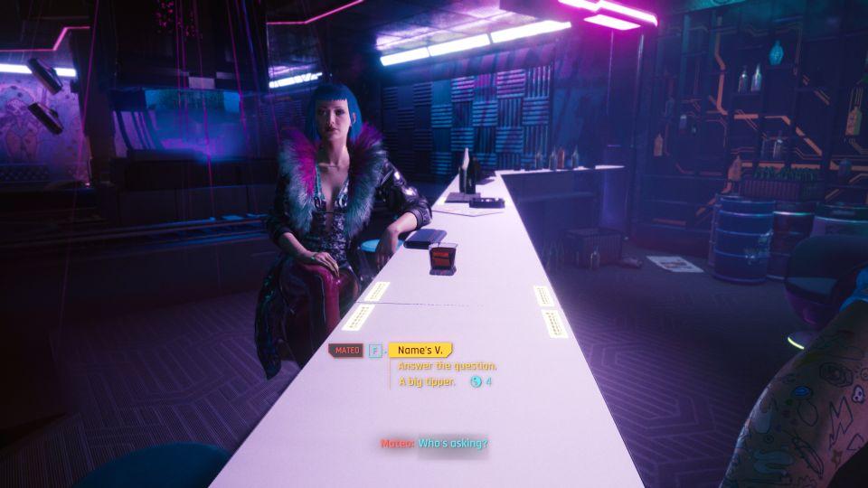 cyberpunk 2077 - the information tips