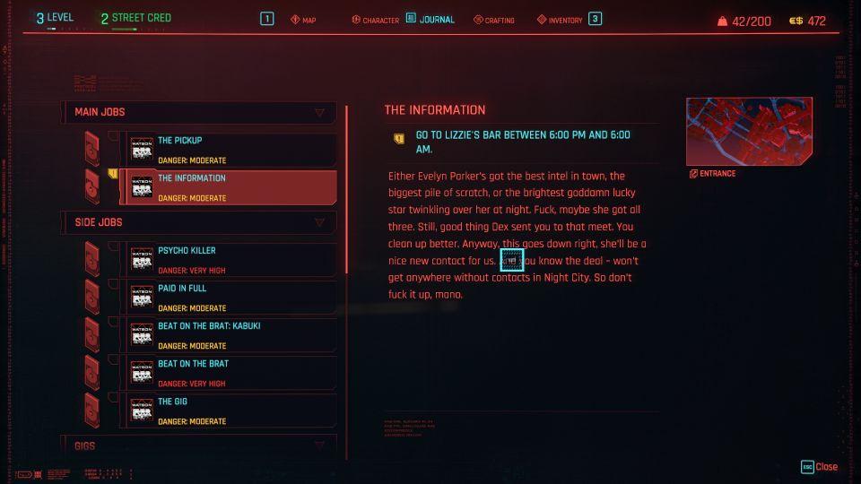 cyberpunk 2077 - the information