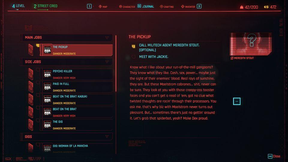 cyberpunk 2077 - the pickup