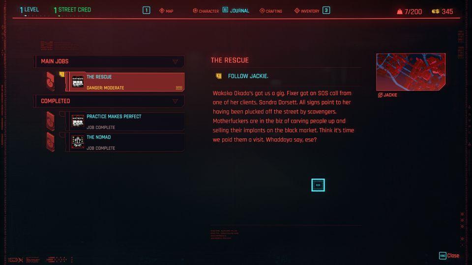 cyberpunk 2077 - the rescue