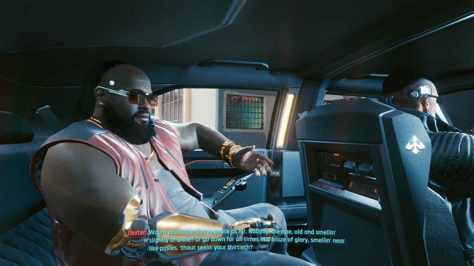 cyberpunk 2077 the ride tips