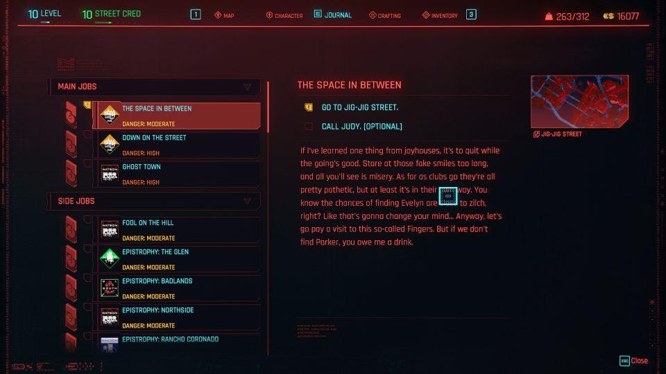 cyberpunk 2077 - the space in between