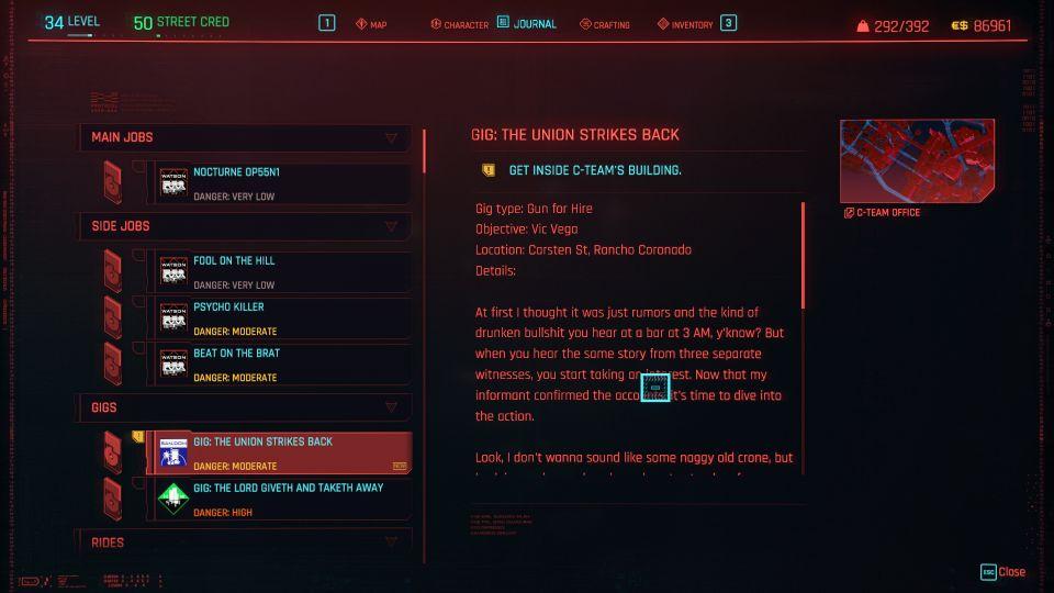 cyberpunk 2077 - the union strikes back