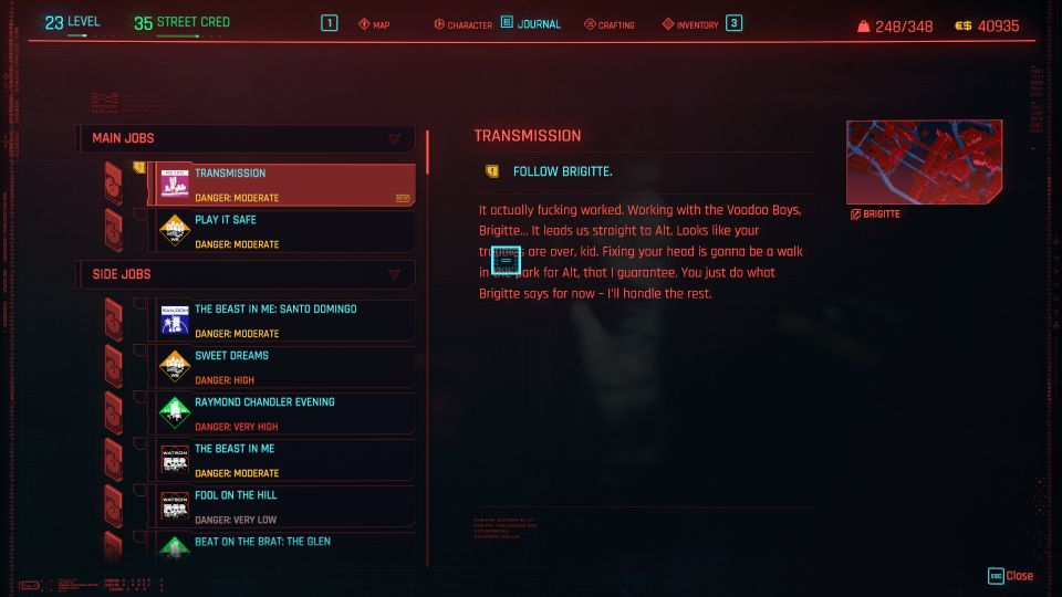 cyberpunk 2077 - transmission