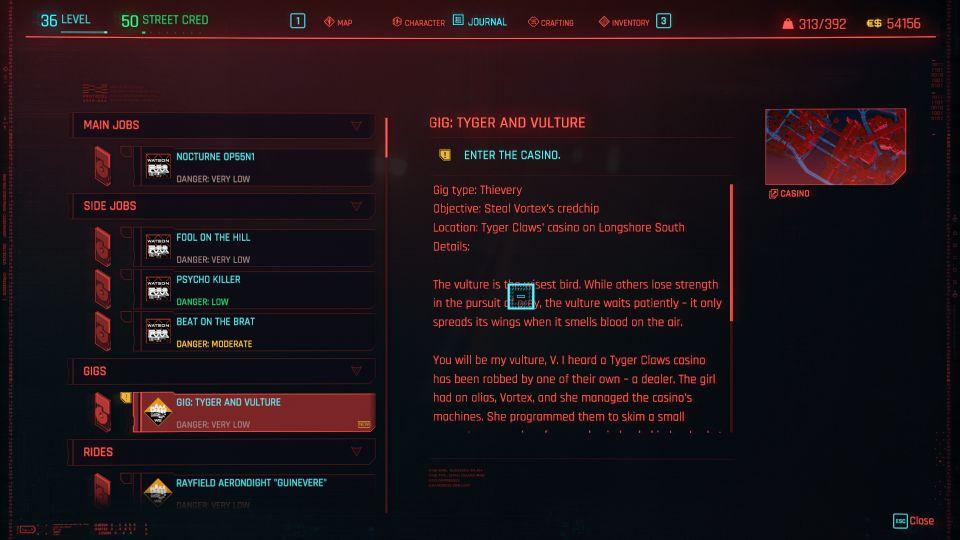 cyberpunk 2077 - tyger and vulture