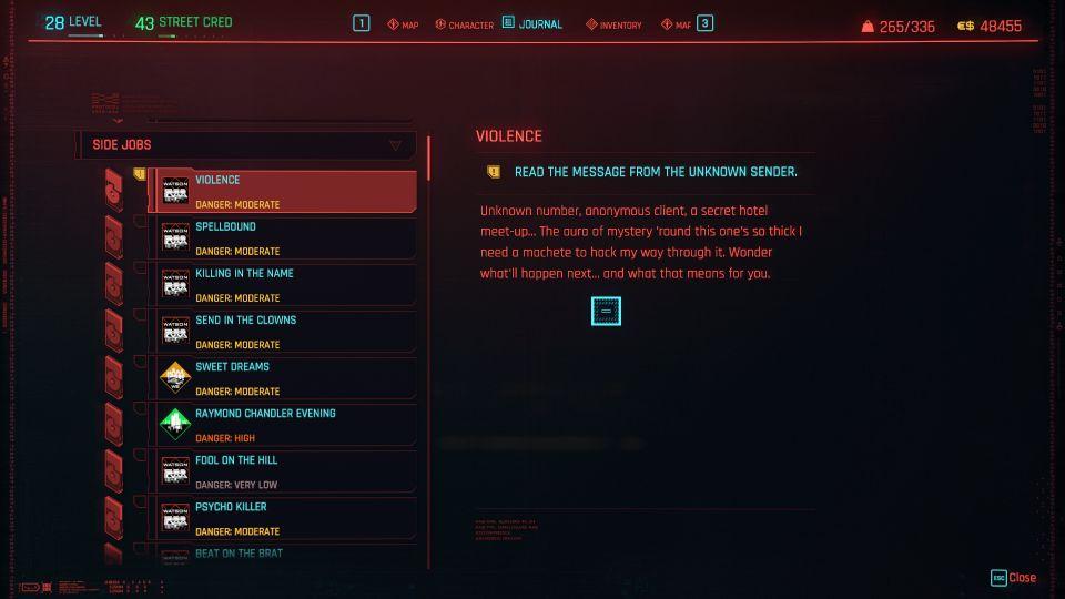 cyberpunk 2077 - violence
