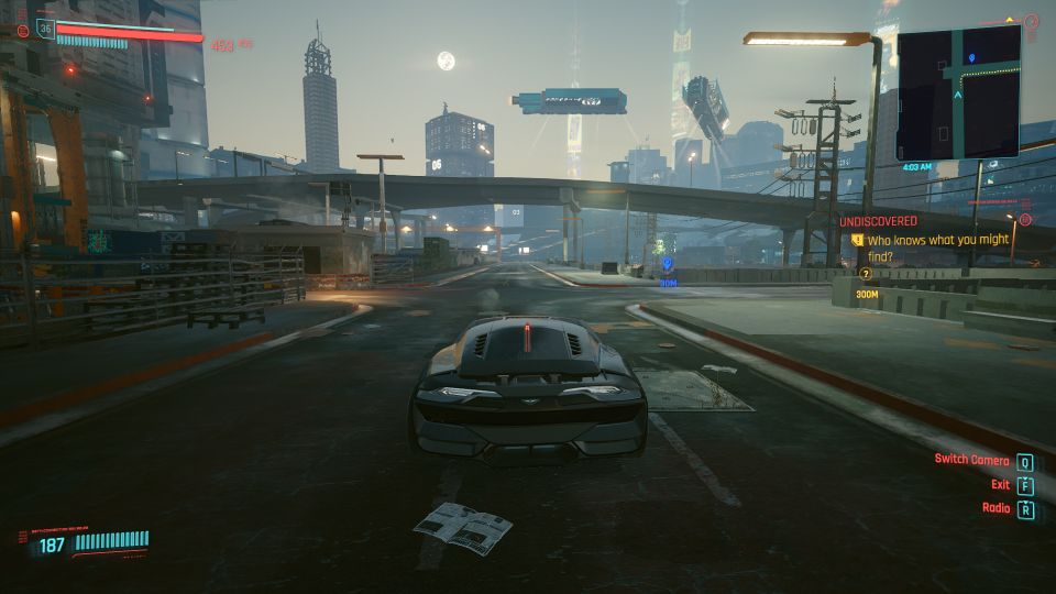 hidden car location - cyberpunk 2077