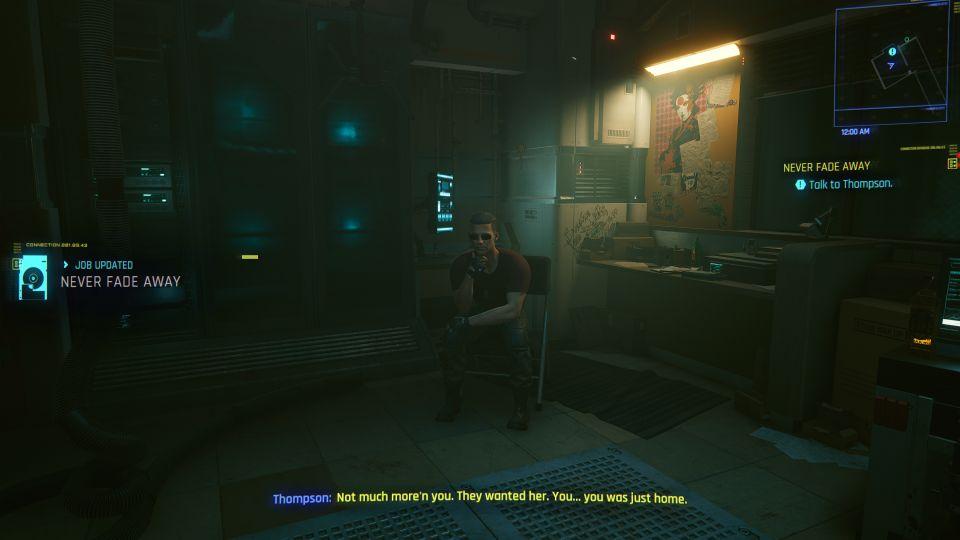 cyberpunk 2077 - never fade away walkthrough