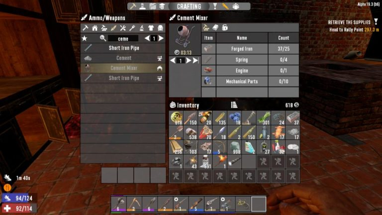 7 days to die - cement mixer guide