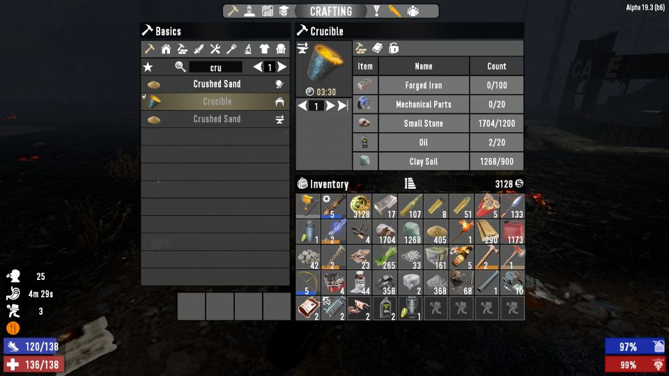 7 days to die - crucible - how to craft or buy