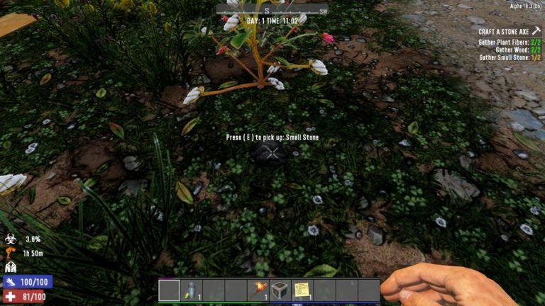 7 days to die - how to get small stone