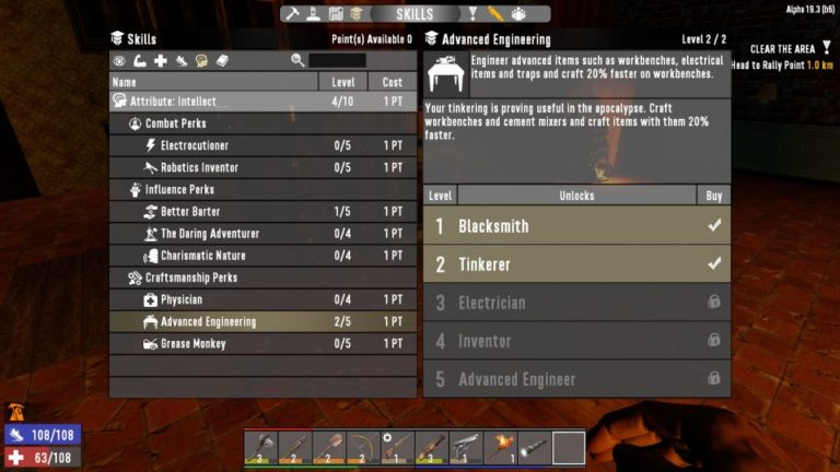 7 days to die - workbench guide