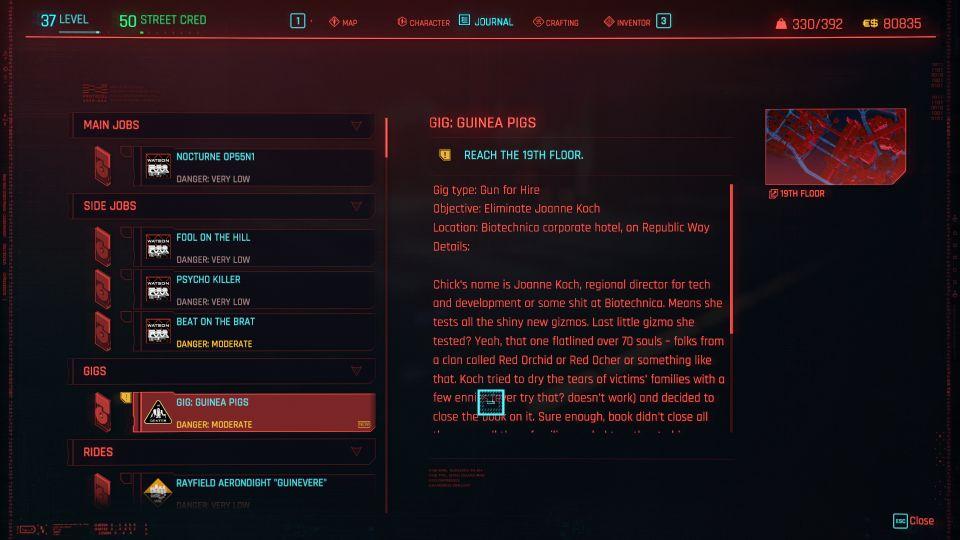 cyberpunk 2077 - guinea pigs