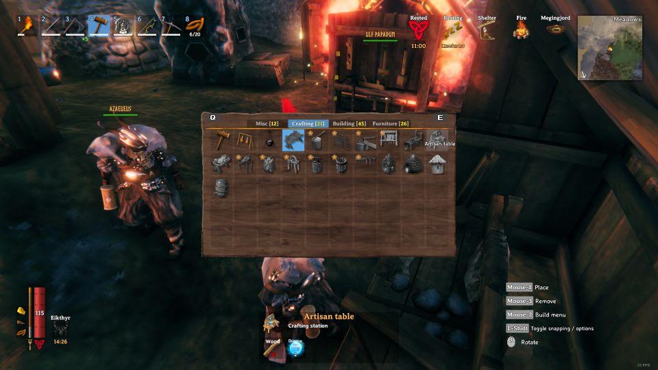 valheim dragon tear artisan table