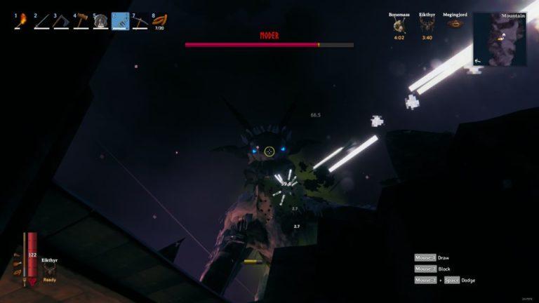 valheim how to beat mountain boss