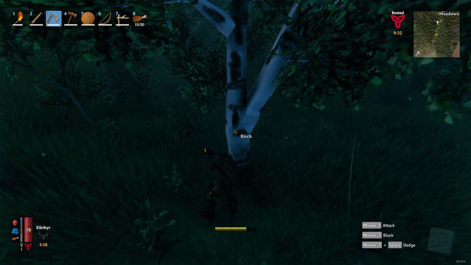valheim how to cut down birch