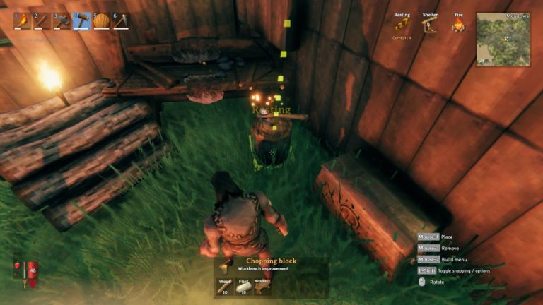 valheim how to get workbench level 2 by making chopping block