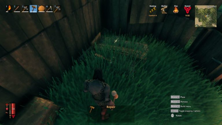 valheim how to remove objects