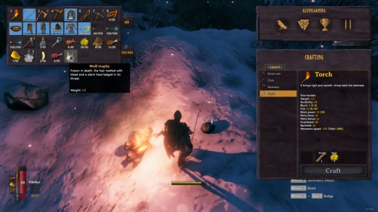 valheim how to survive mountain biome