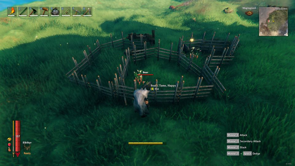 valheim how to tame boars
