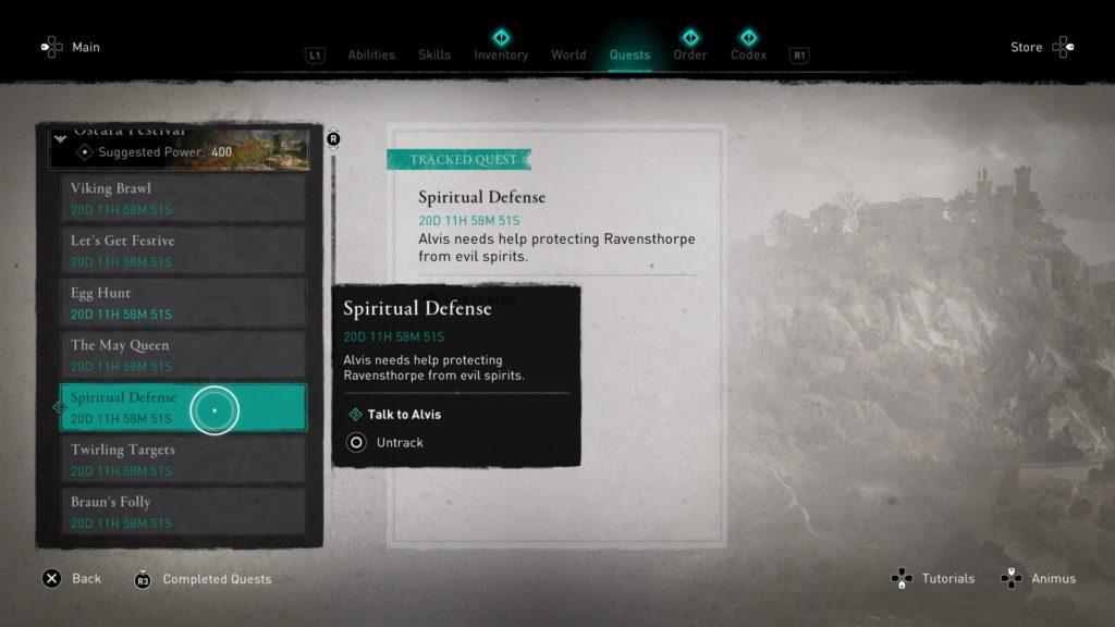 ac valhalla - spiritual defense
