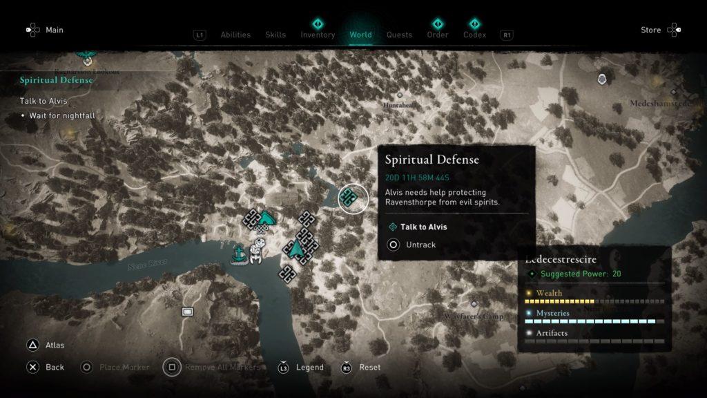 ac valhalla - spiritual defense quest