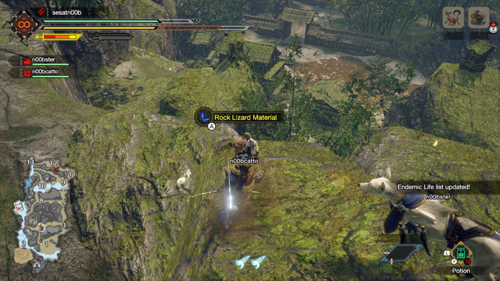 monster hunter rise - how to find rock lizard