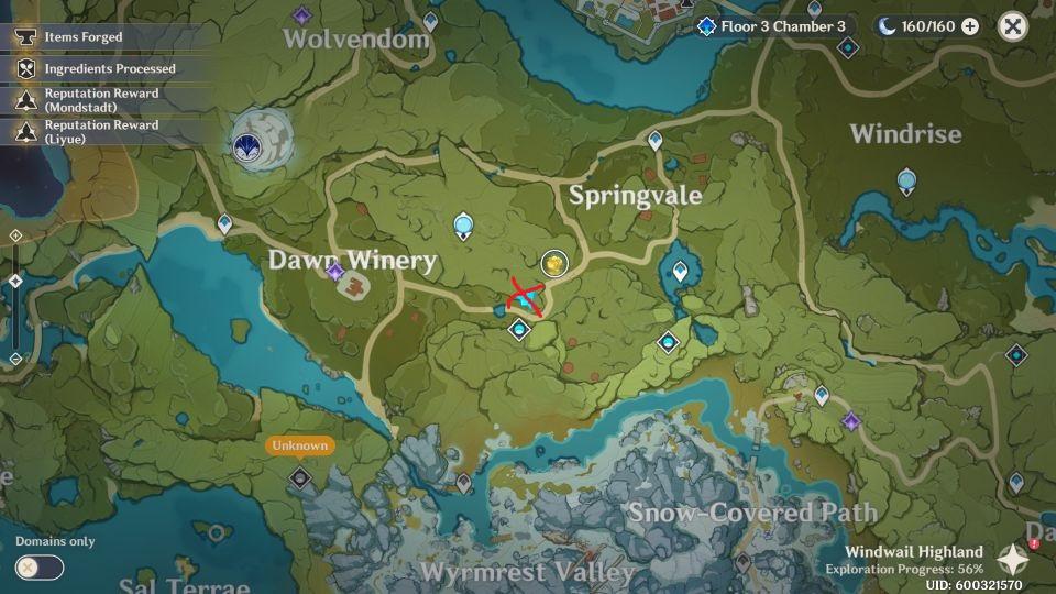 genshin impact - birch location - how to find