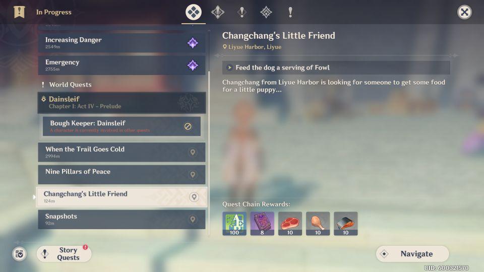 genshin impact - changchang's little friend