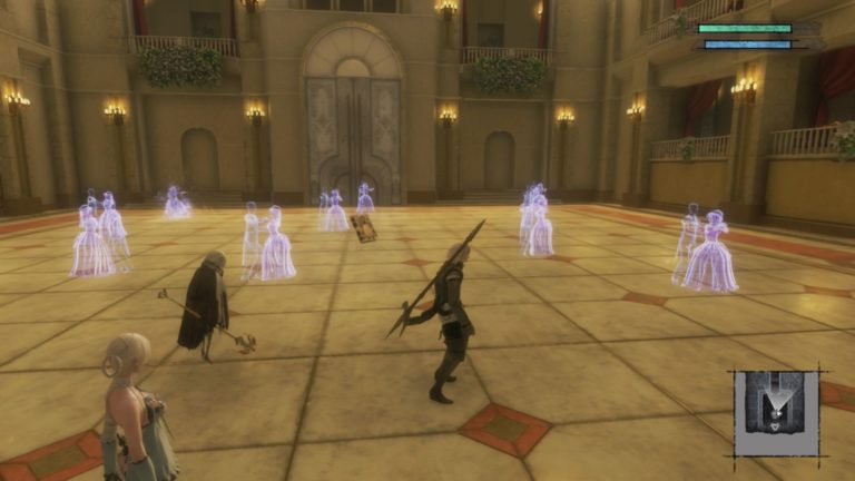 nier replicant - shadowlord's castle boss fight
