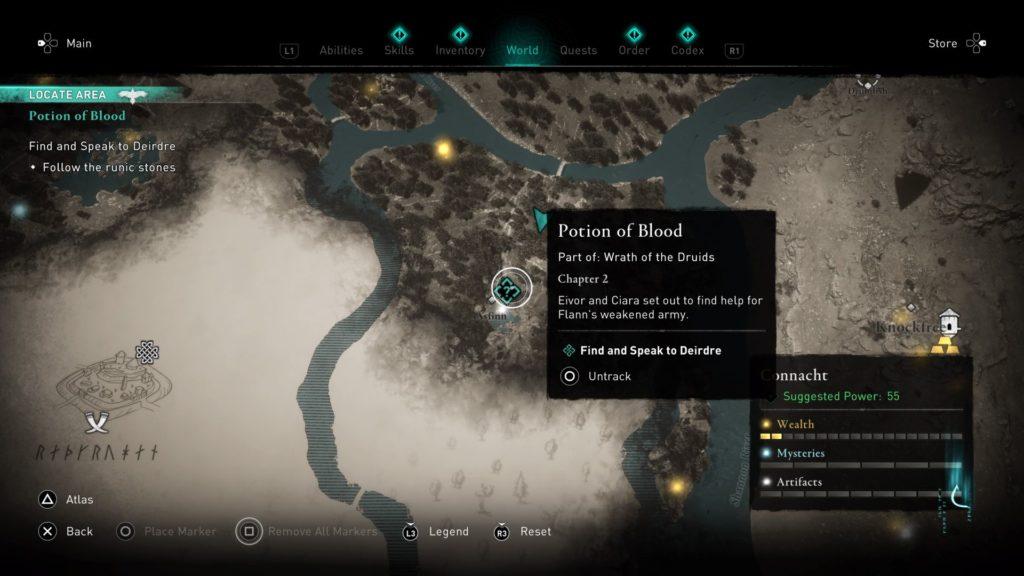 ac valhalla - potion of blood walkthrough