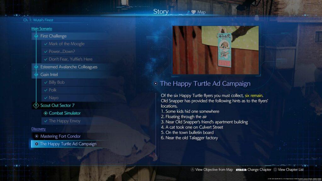 ff7 remake intergrade - happy turtle guide