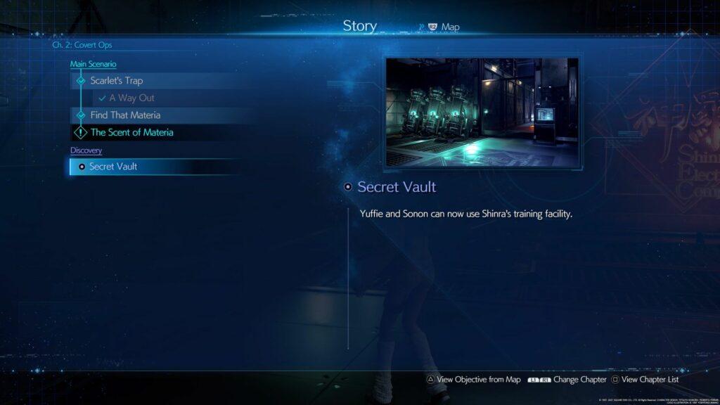 ff7 remake intergrade - secret vault guide