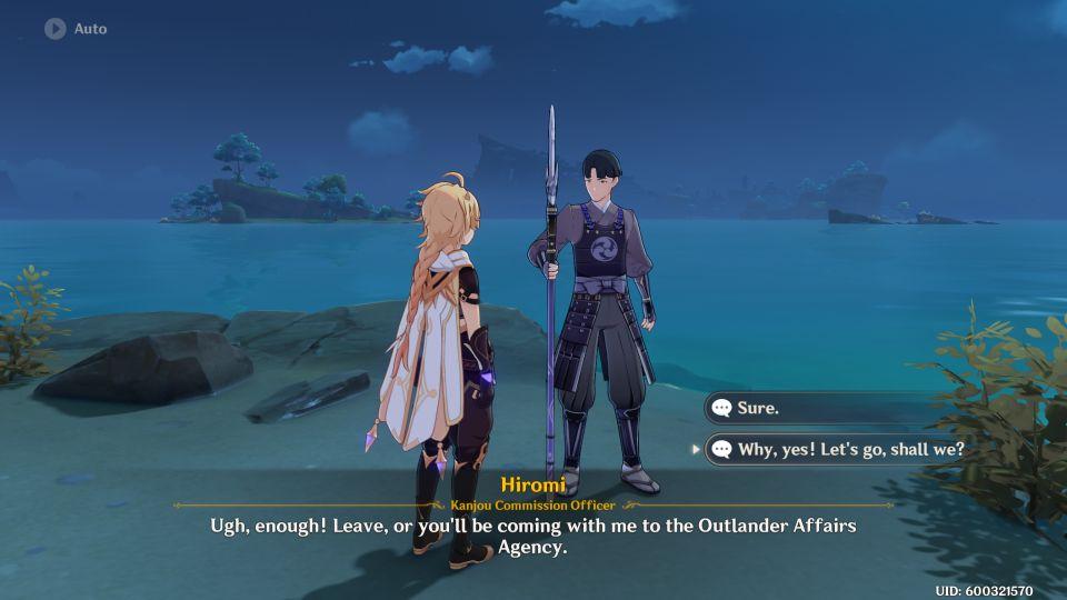Genshin Impact: Hiromi's Watch quest walkthrough