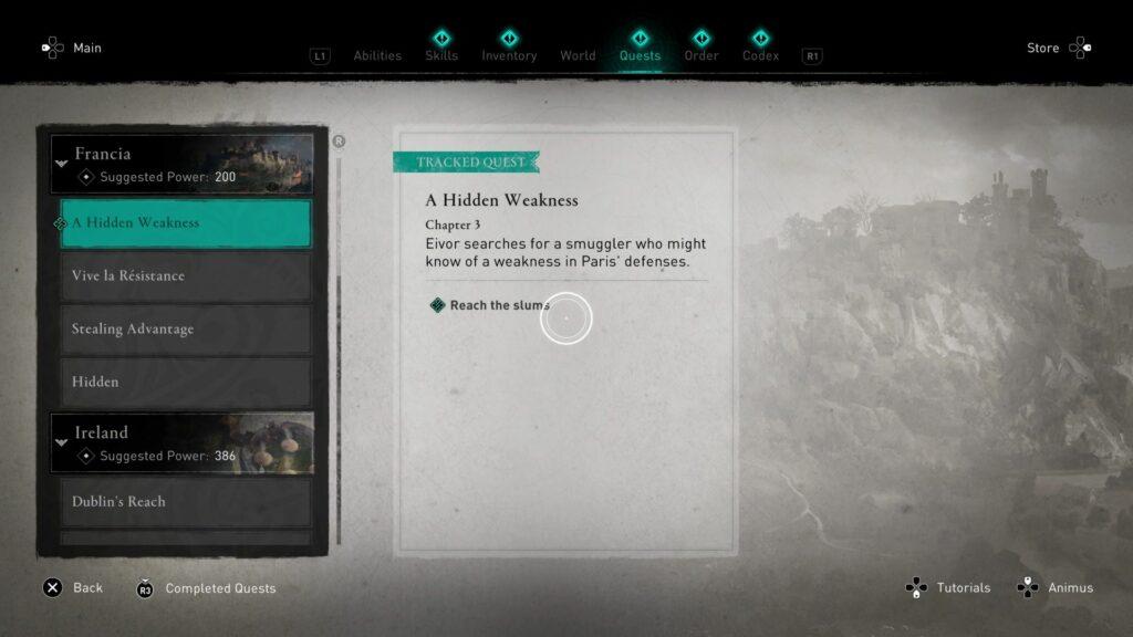 Assassin's Creed Valhalla: A Hidden Weakness Walkthrough