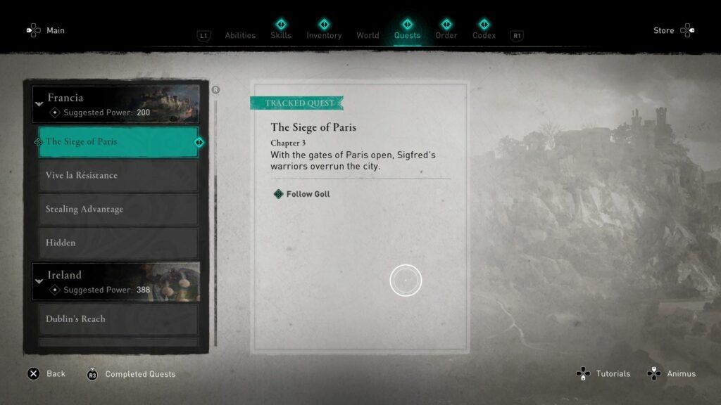Assassin's Creed Valhalla: The Siege Of Paris Quest Walkthrough